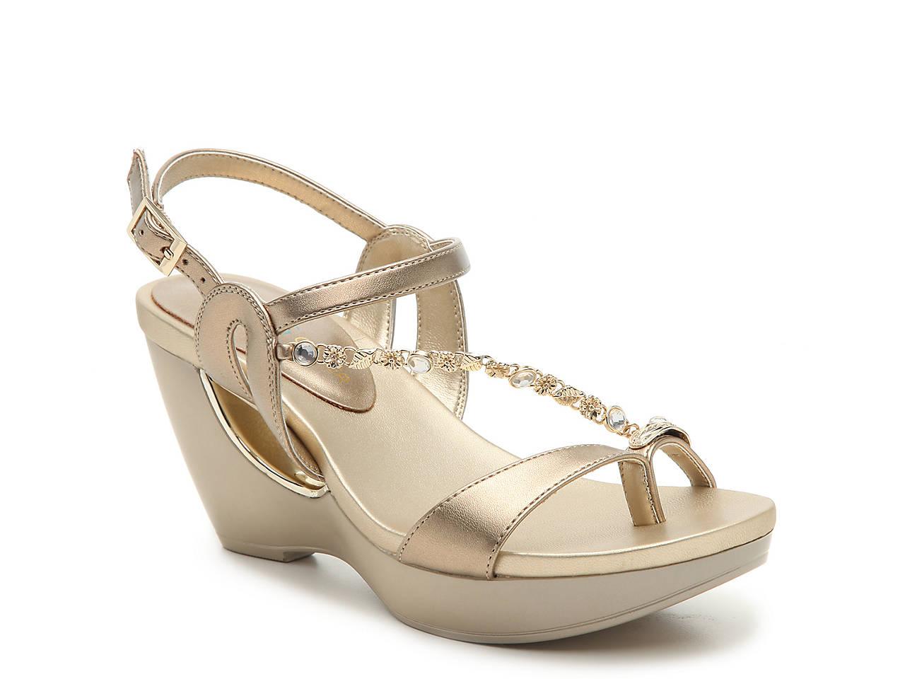 e15fc5588968e Andrew Geller Alya Wedge Sandal Women s Shoes