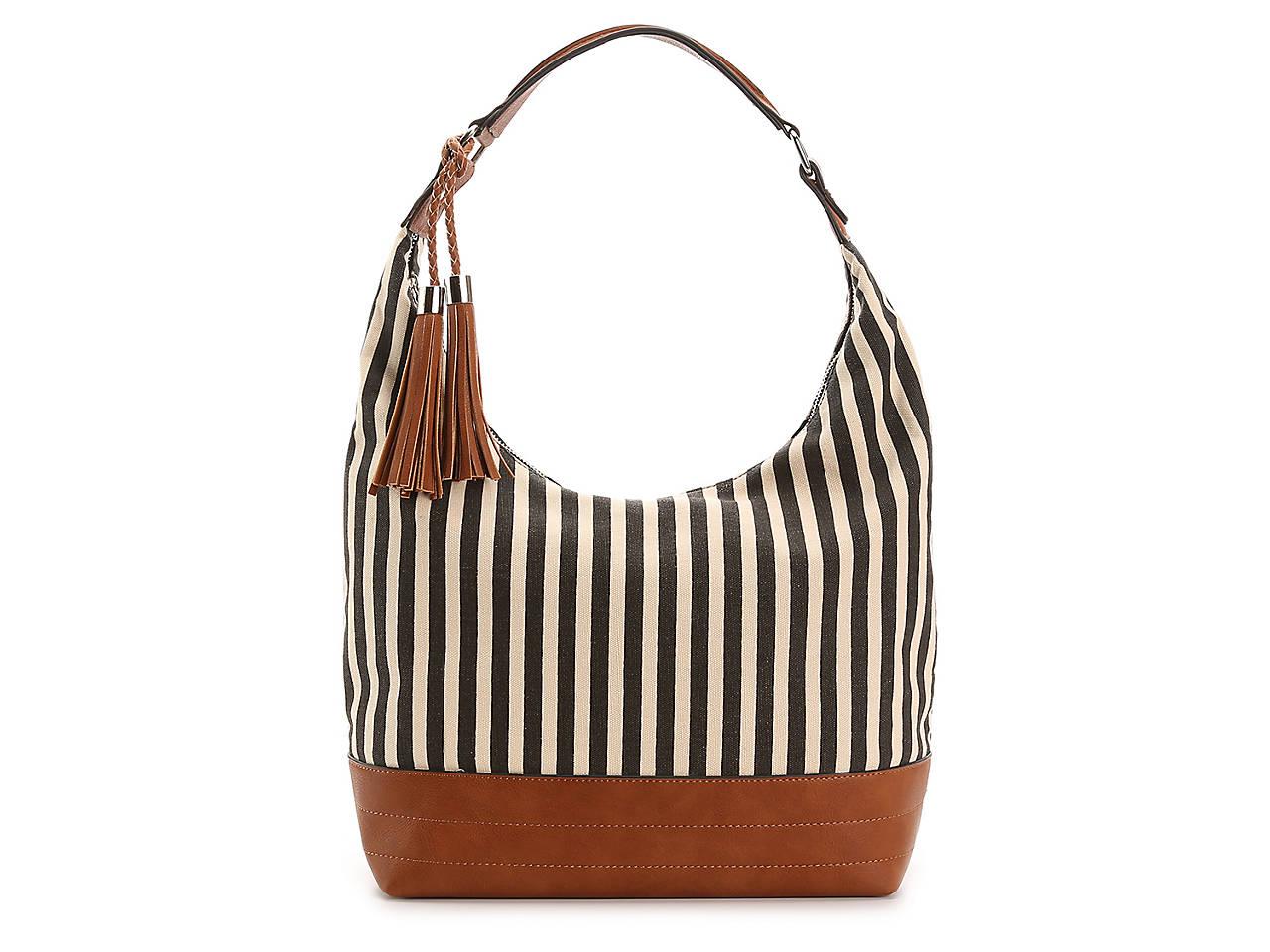 Stripe Hobo Bag