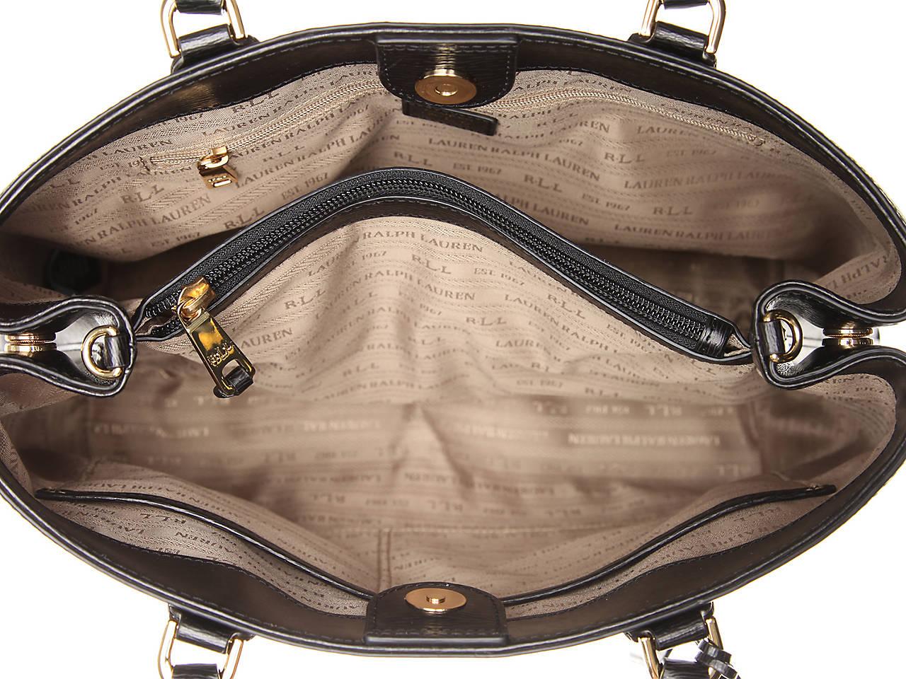 9d4d07f76834 Lauren Ralph Lauren Newbury Sabine Leather Satchel Women s Handbags ...