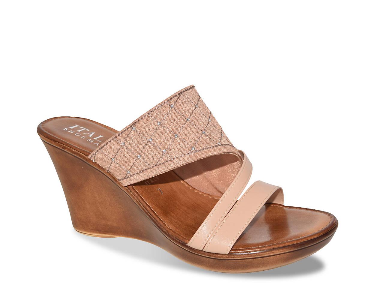 Tiia Wedge Sandal by Italian Shoemakers