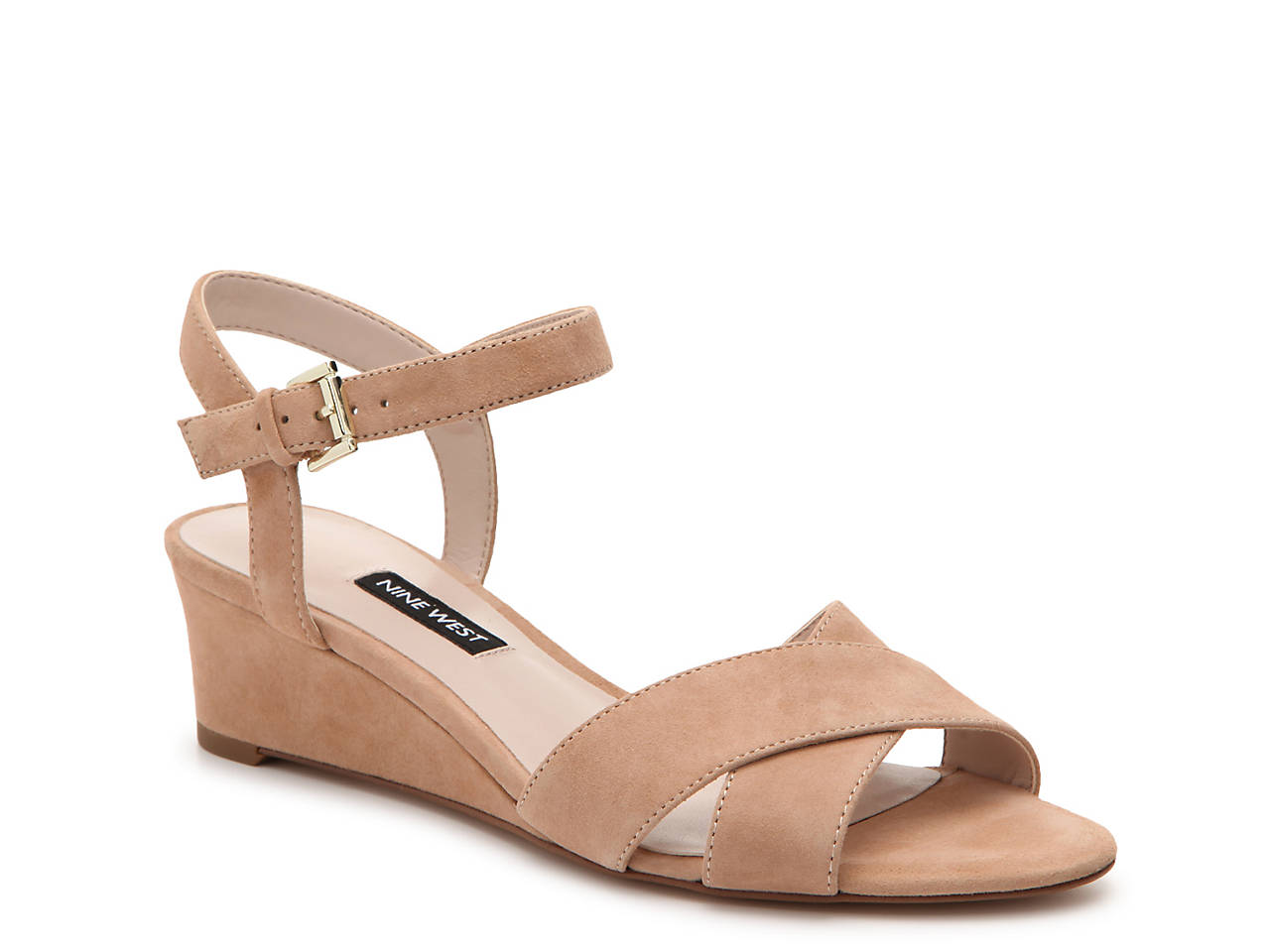 Nine West Laglade Wedge Sandals Women's Shoes QS8xXy