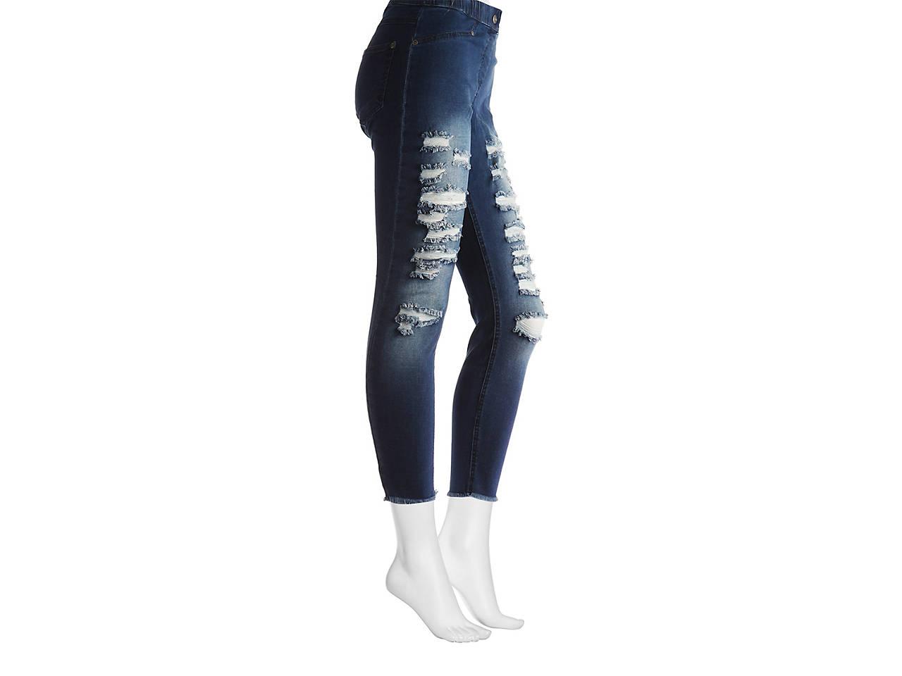 80bde8de3365a6 HUE Hosiery Ripped Denim Women's Leggings Women's Handbags ...