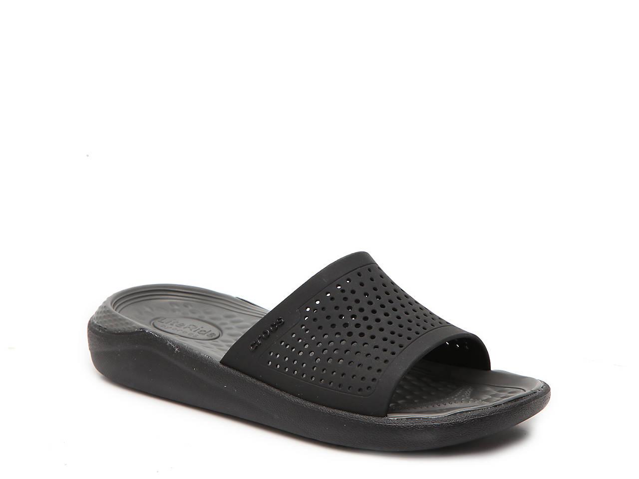 crocs literide slide sandal women s women s shoes dsw