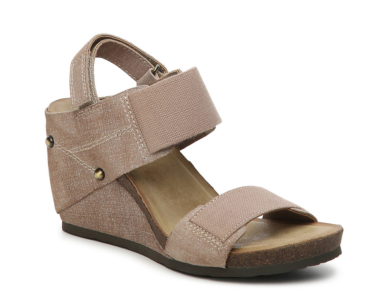 Civico 10 Pelican Platform Wedge Sandal Womens Shoes Dsw Tendencies Sandals Footbed 2 Strap Brown 42