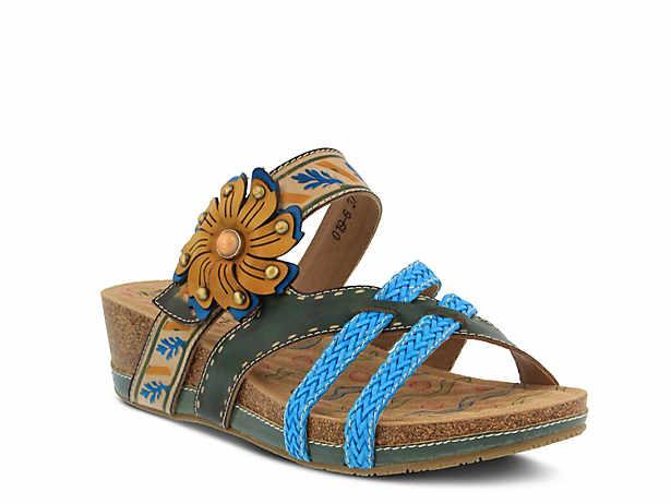 L'ARTISTE Women's L'Artiste Enticing Wedge Sandal