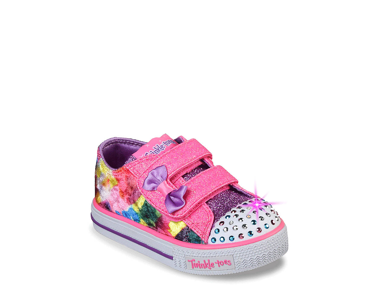 b10a9ac81c1c Skechers Twinkle Toes Tye Dye Dazzle Toddler Light-Up Sneaker Kids ...