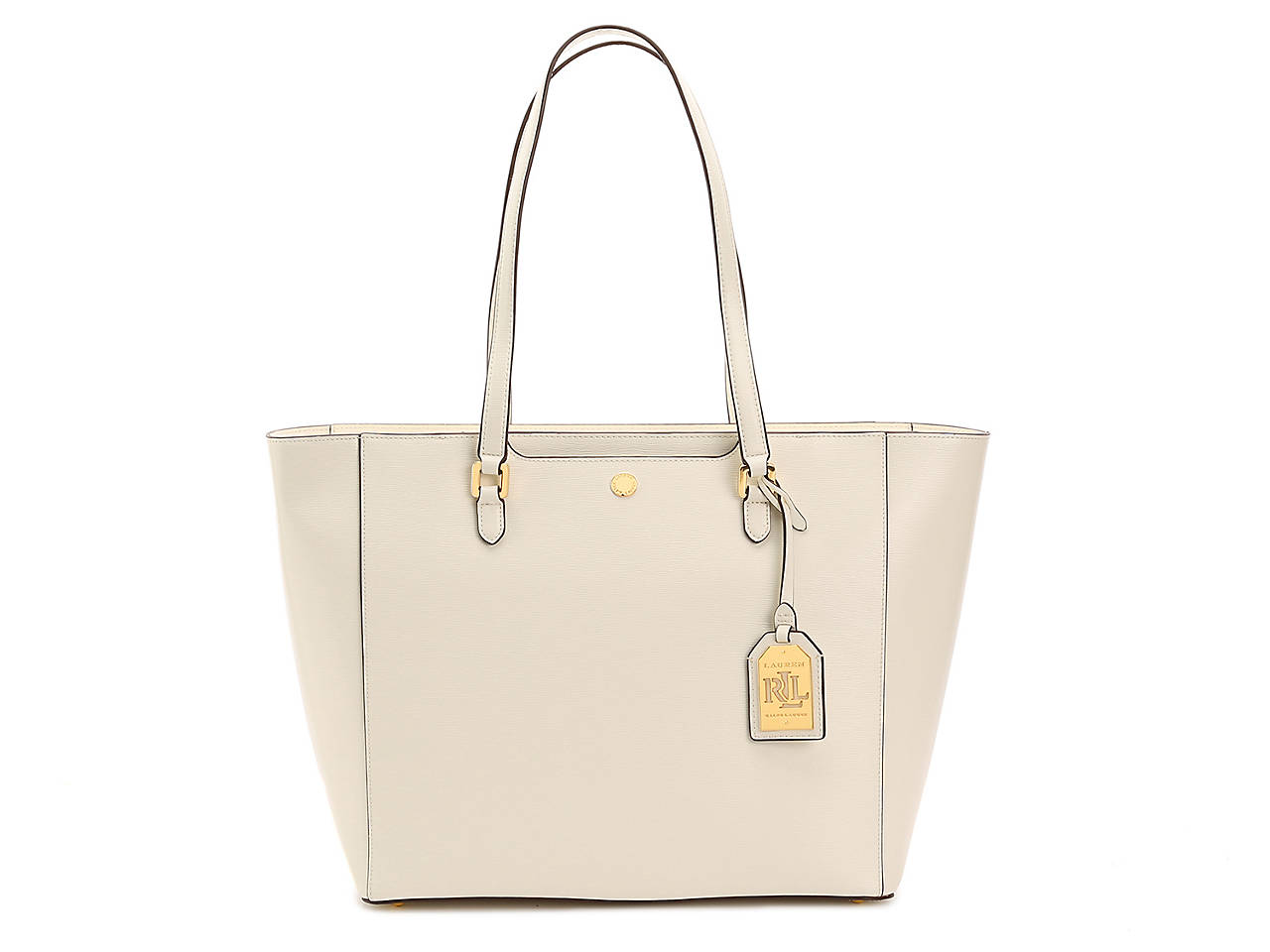 Lauren Ralph Lauren Newbury Halee Leather Tote Women s Handbags ... fd3c055ec82de