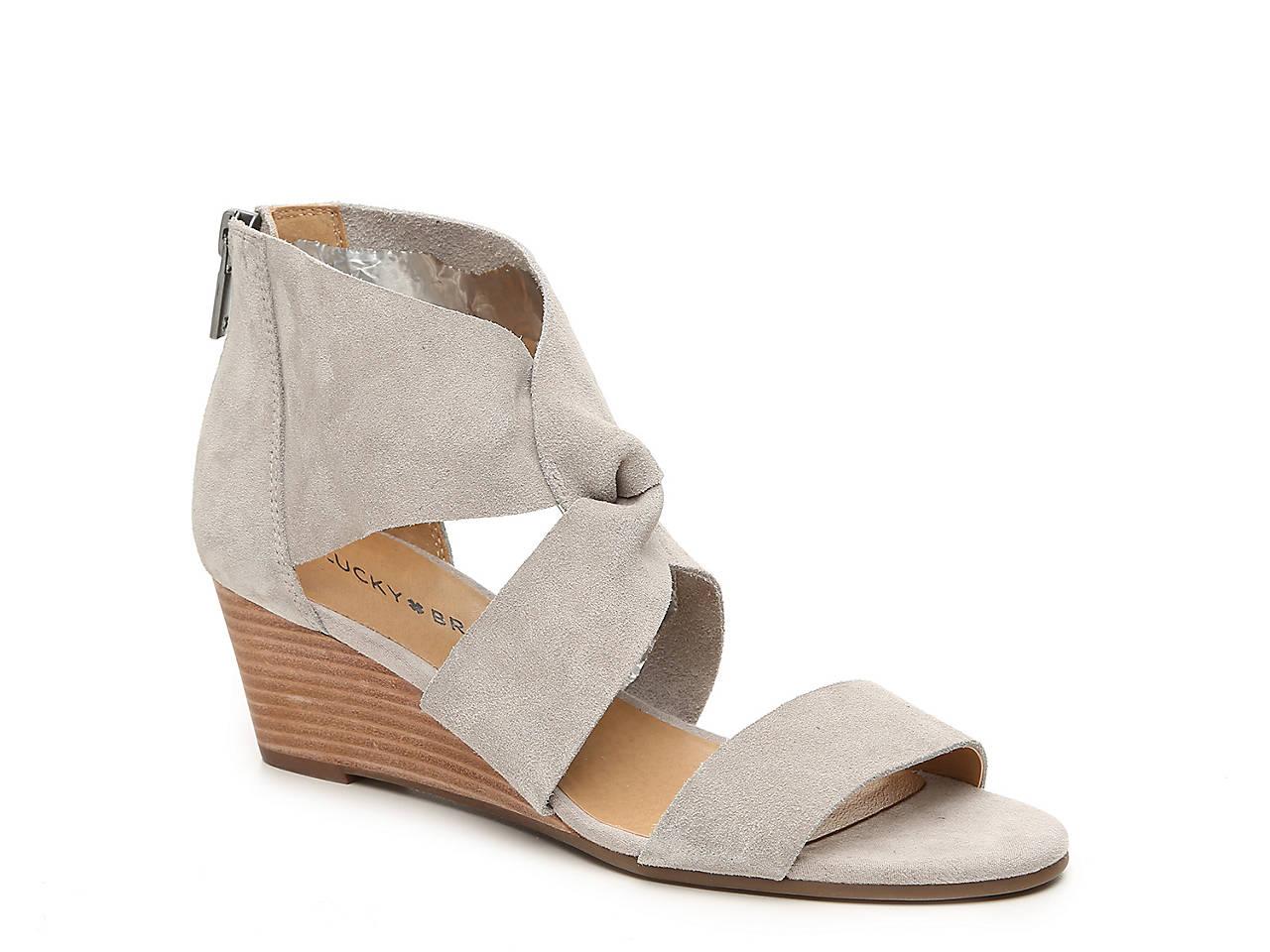 7fdf1fde3 Lucky Brand Jamain Wedge Sandal Women's Shoes | DSW