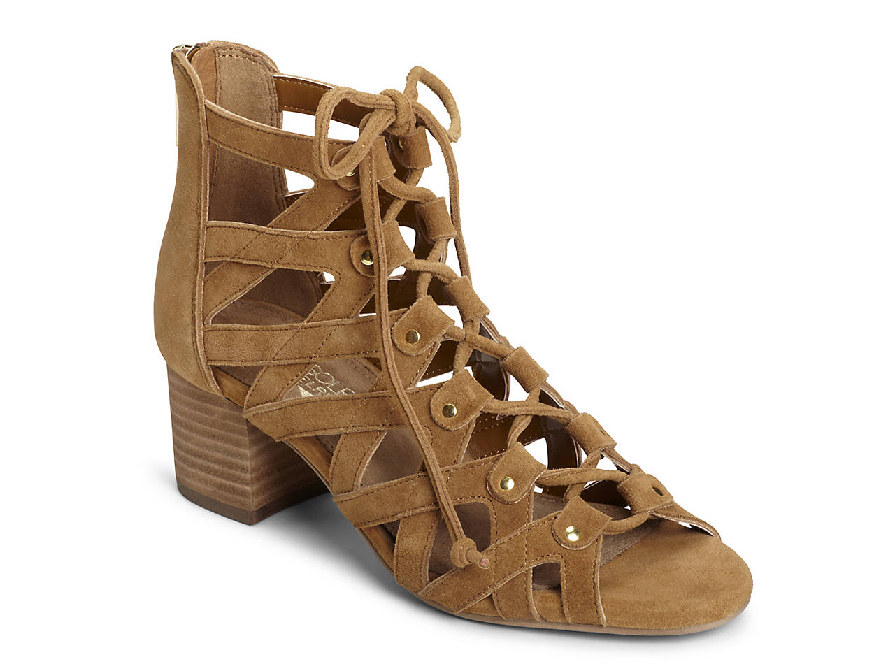 Aerosoles Middle Ground Ghillie Lace Sandal(Women's) -Dark Tan Suede Cheapest Price Extremely Cheap Price Buy Cheap Best Wholesale Clearance Prices bQar9L2upZ