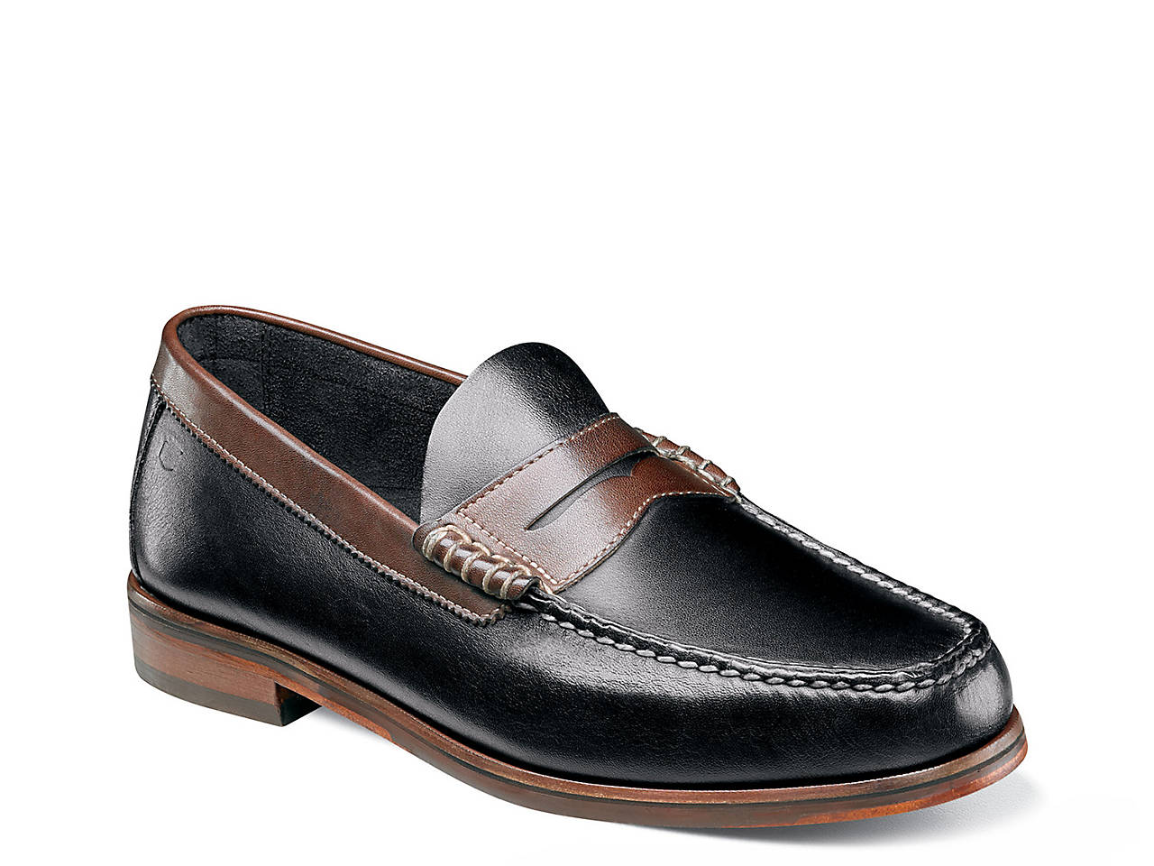 Florsheim Heads Up Penny Loafer (Black/Brown Smooth) Mens Slip-on Dress Shoes Low Shipping Fee Sale Online Purchase Buy Cheap Browse Clearance Manchester xAIvvvJrx8