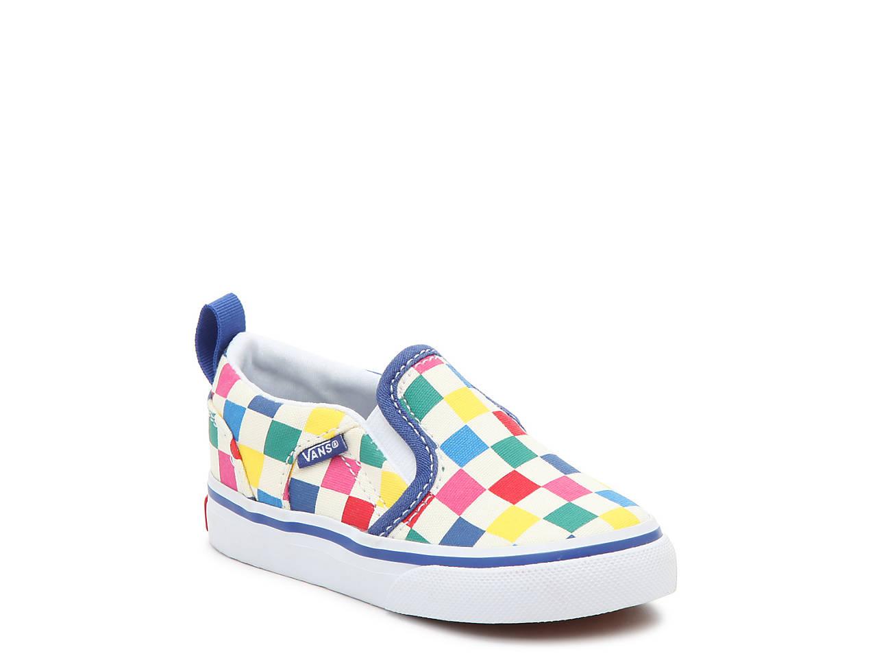72b441ab944 Vans Asher V Infant   Toddler Slip-On Sneaker Kids Shoes