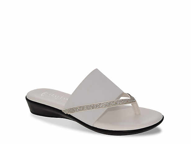 beadb6d0c4eeb3 Italian Shoemakers. Luxi Wedge Sandal
