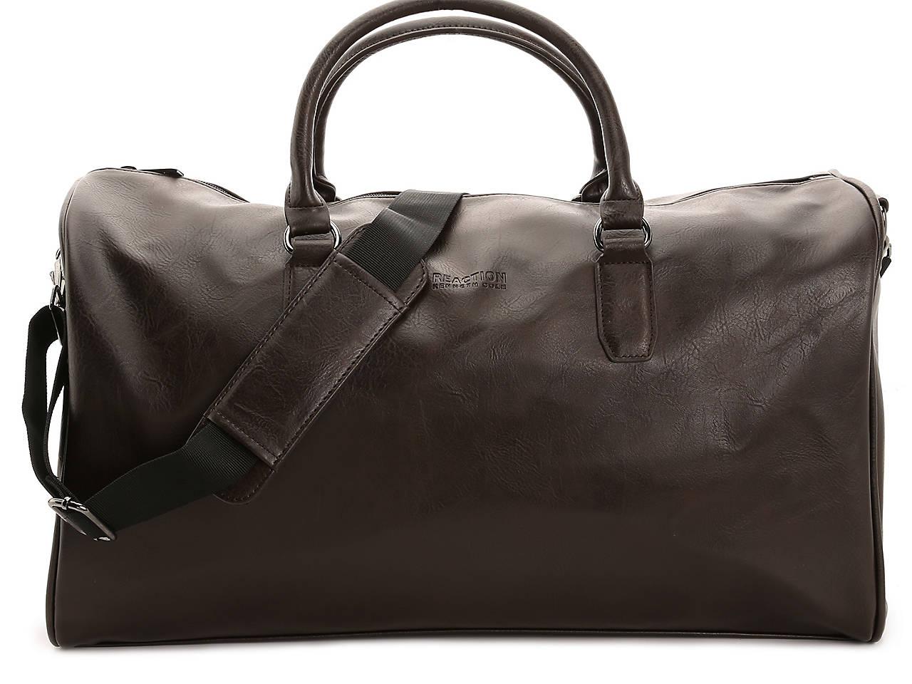 Kenneth Cole Reaction I m Duffed Leather Weekender Bag Men s ... 99c179f08de79