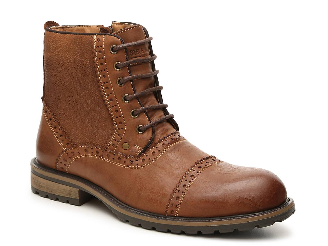 Steve Madden Settler Cap Toe Leather Boot Websites rh9MyTZD