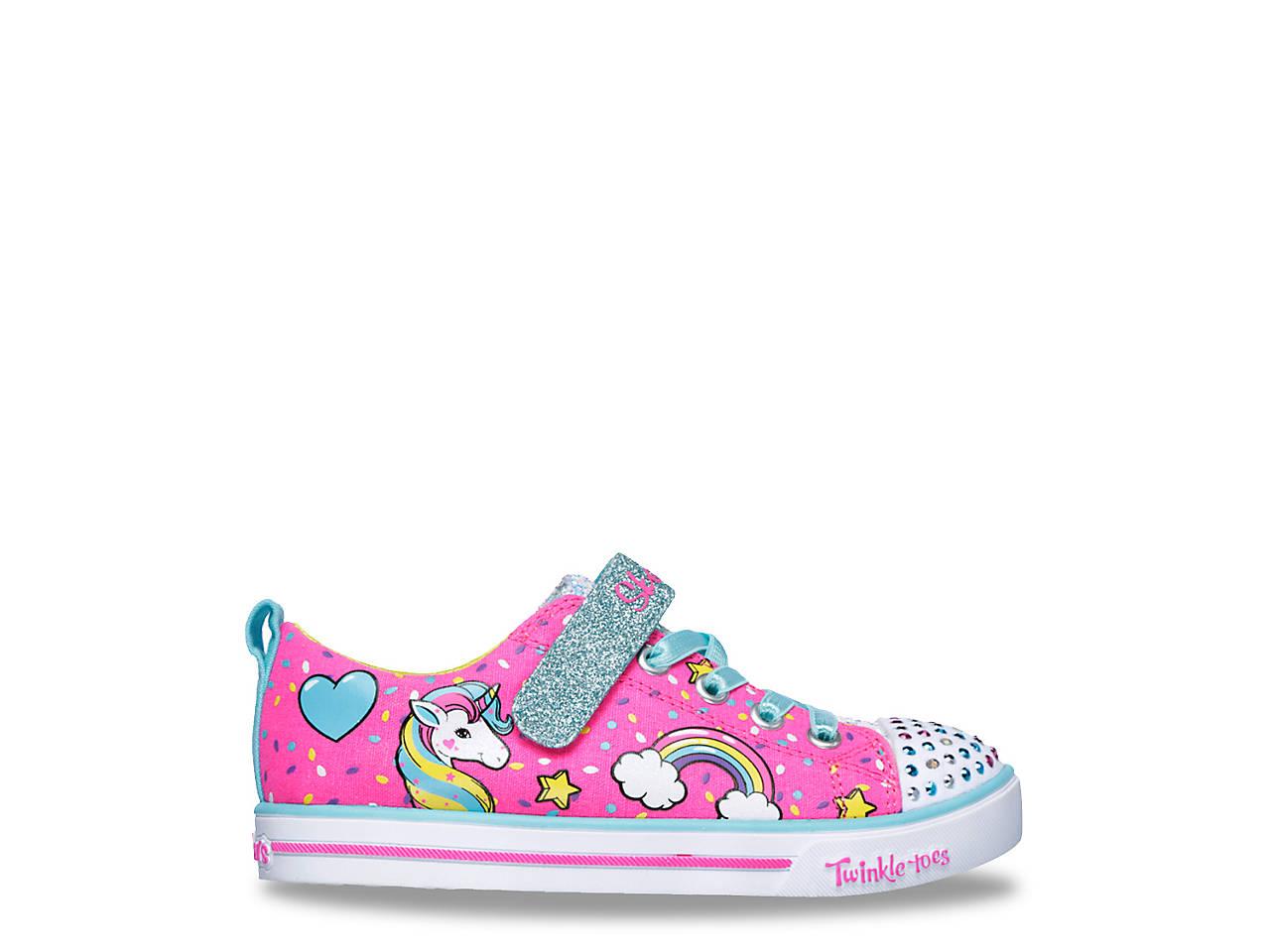 9f77af5efa9d Skechers Twinkle Toes Unicorn Craze Toddler   Youth Light-Up Sneaker ...