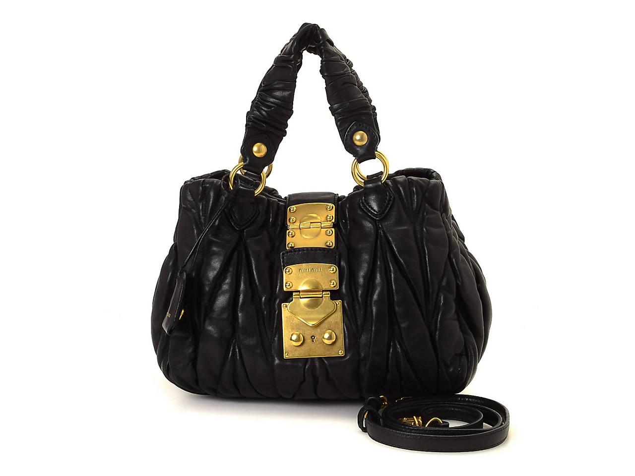 Miu Miu - Vintage Luxury Matelasse Two Way Leather Shoulder Bag ... 19fe3cfc1e8f3