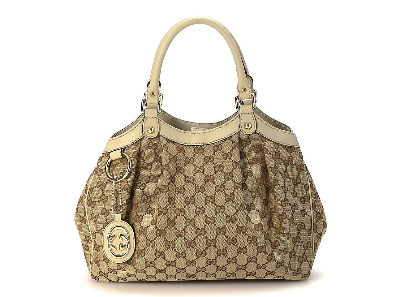 cba53b057f14 Gucci - Vintage Luxury GG Canvas Sukey Shoulder Bag Women's Handbags ...