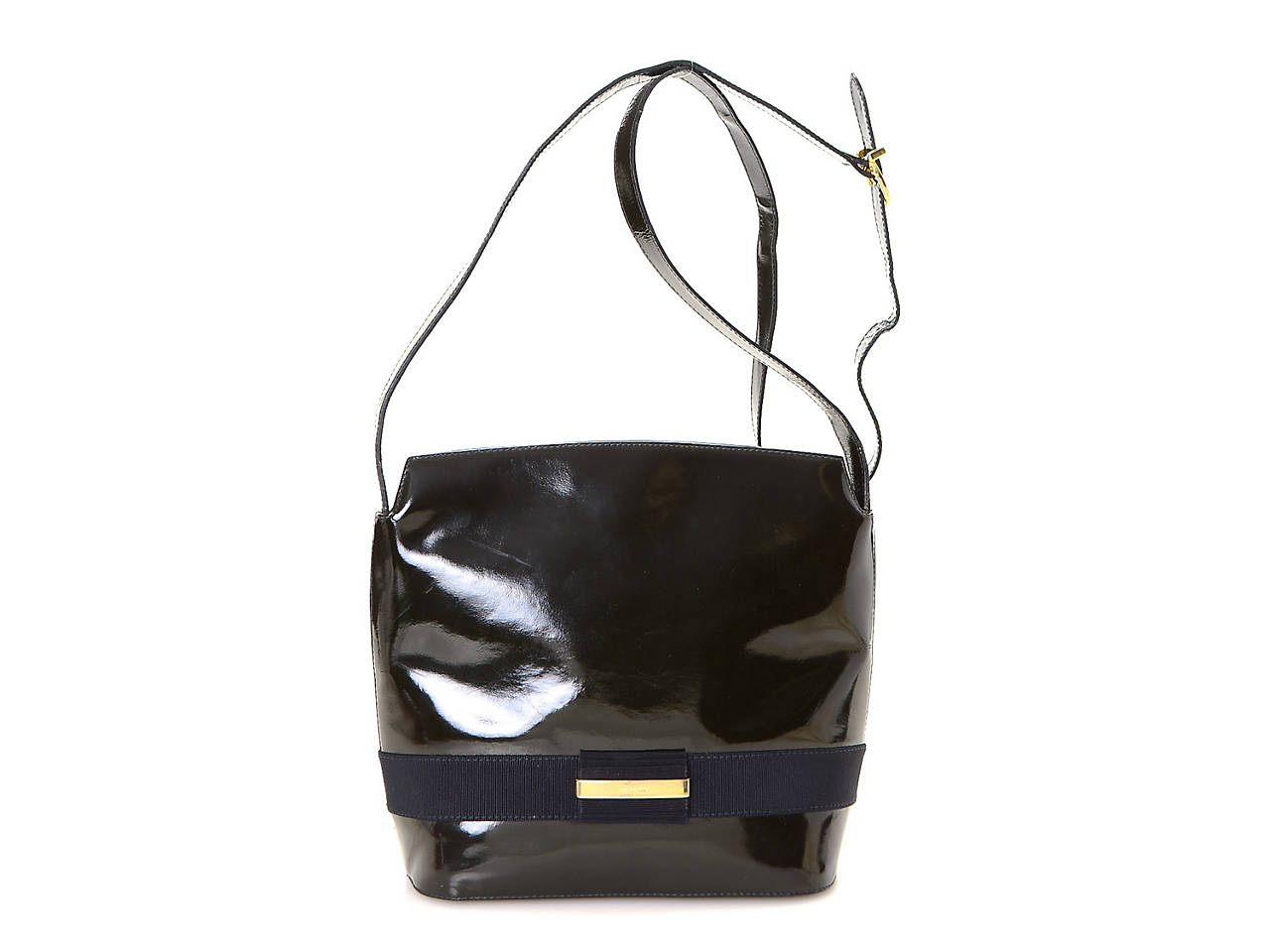 3927f539b1 Salvatore Ferragamo - Vintage Luxury Patent Leather Shoulder Bag ...