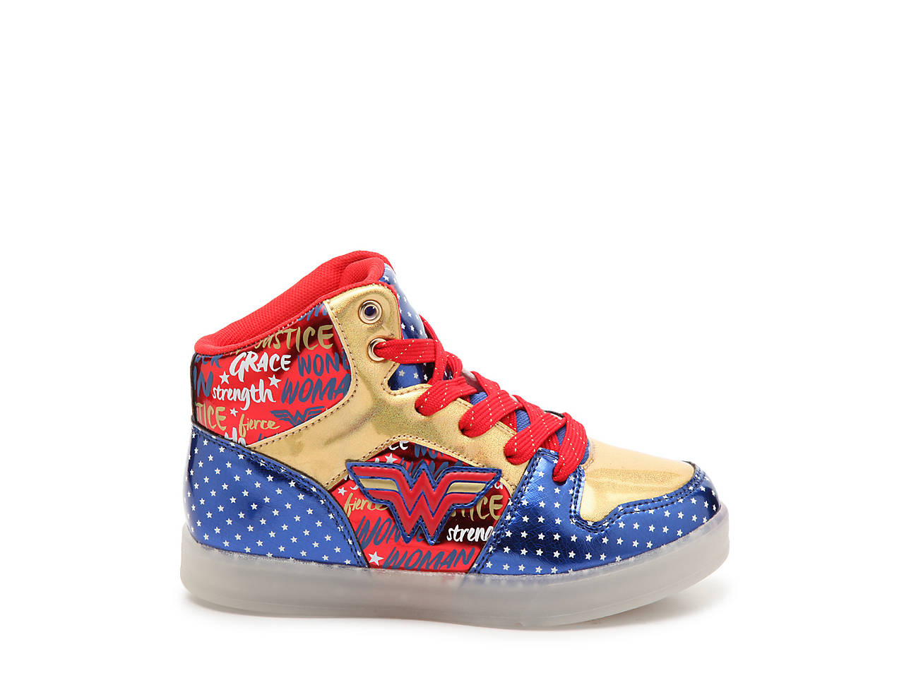 a few days away most fashionable biggest discount Wonder Woman Light-Up High-Top Sneaker - Kids'