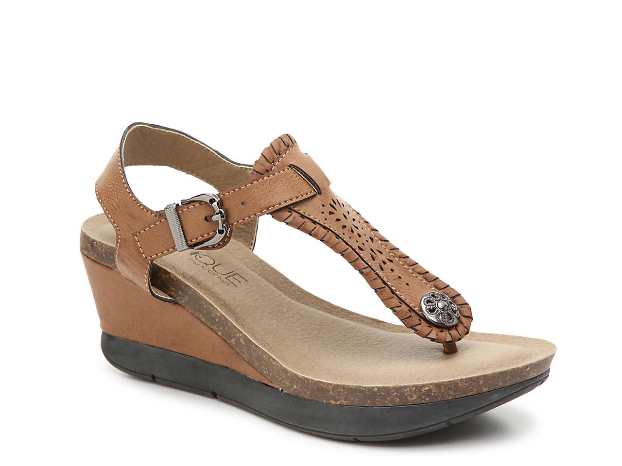 6aabc25b6a9 Corkys Knock Down Wedge Sandal Women s Shoes