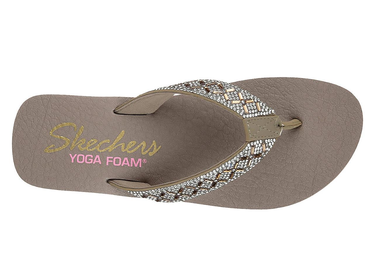 3cb5973bc8d2 Skechers Cali Vinyasa Wedge Flip Flop Women s Shoes