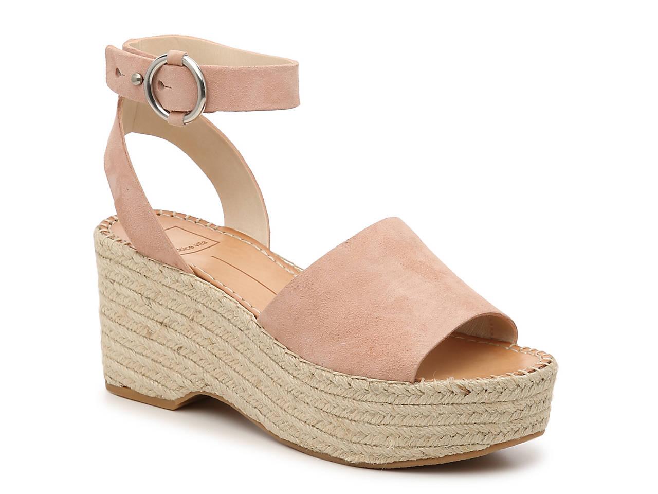 Dolce Vita Lesly Leather Platform Espadrille Sandals 0Zlp7