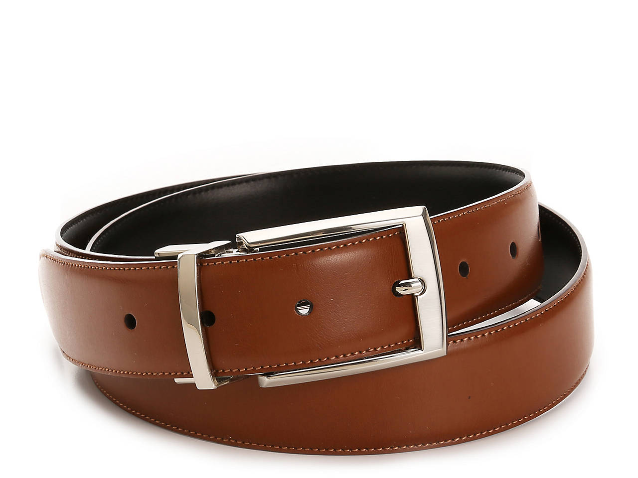 Reversible Leather Belt by Perry Ellis