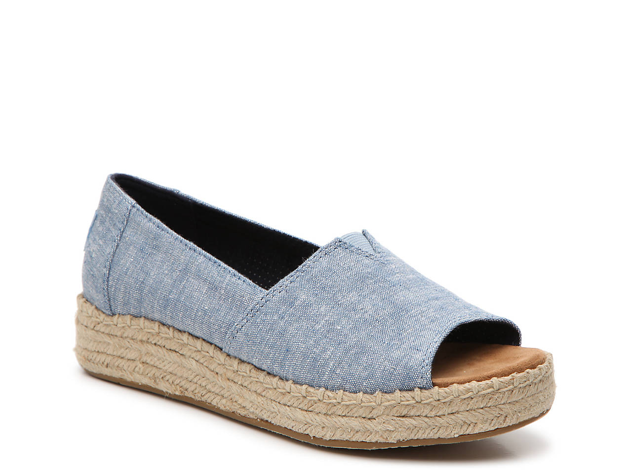 42c9d43e4ef TOMS Alpargata Espadrille Wedge Slip-On Women s Shoes