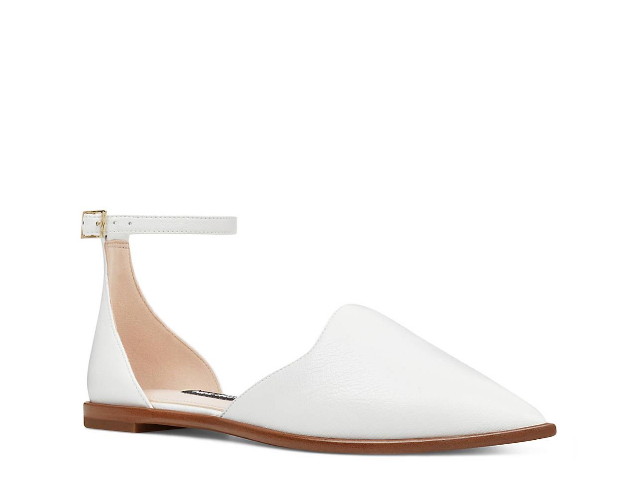 Nine West Women's Oriona Ankle Strap Flat nSUiE