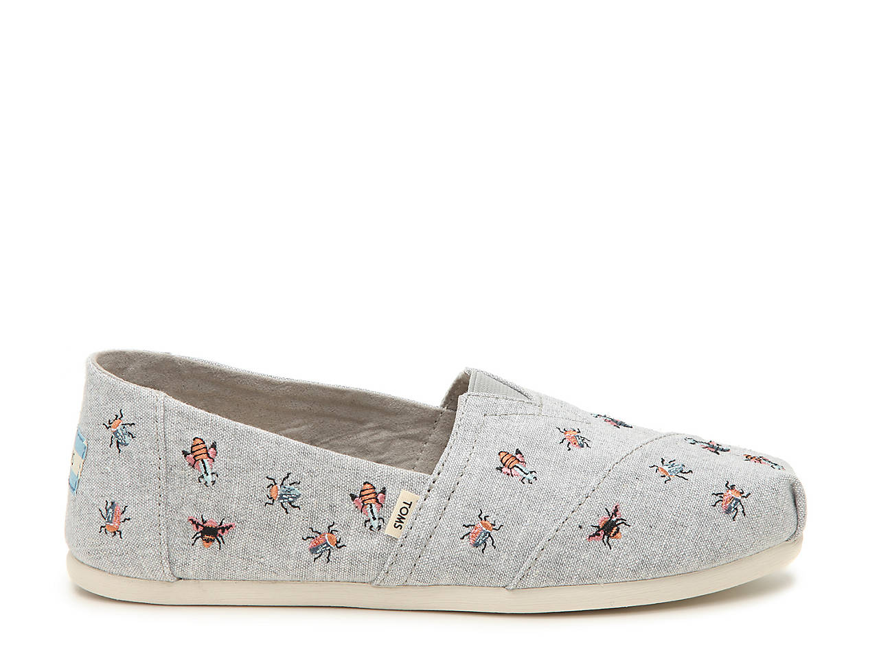 Toms Embroidered Bugs Alpargata Slip On Women S Shoes Dsw