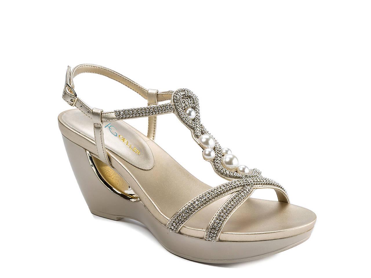 9a8e34ff18070 Andrew Geller Allisandra Wedge Sandal Women s Shoes