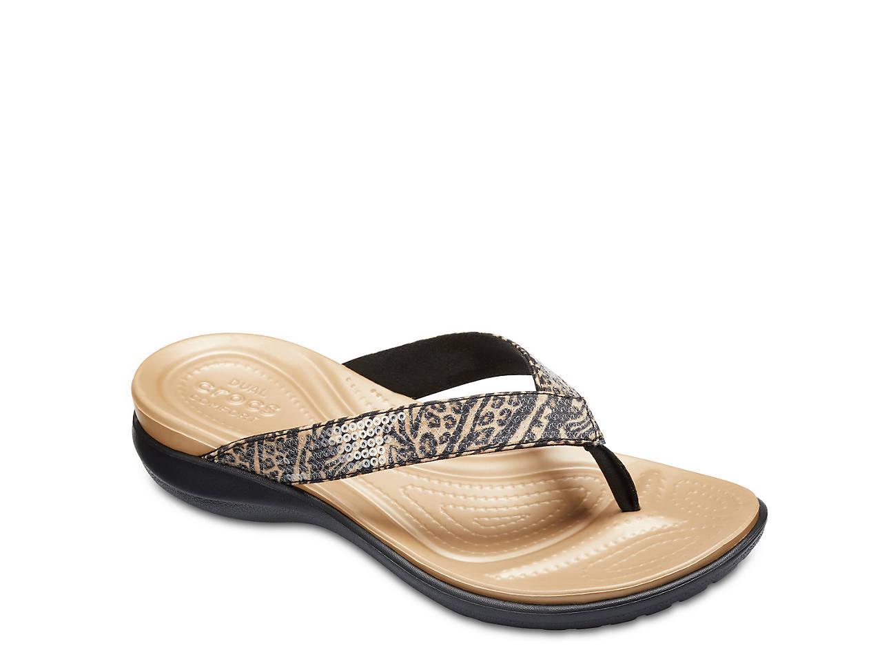 86dc85a845a Crocs Capri Sequin Sandal Women s Shoes