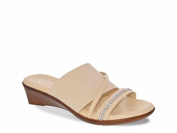 8e80d1f09a12 Italian Shoemakers. Sassy Wedge Sandal