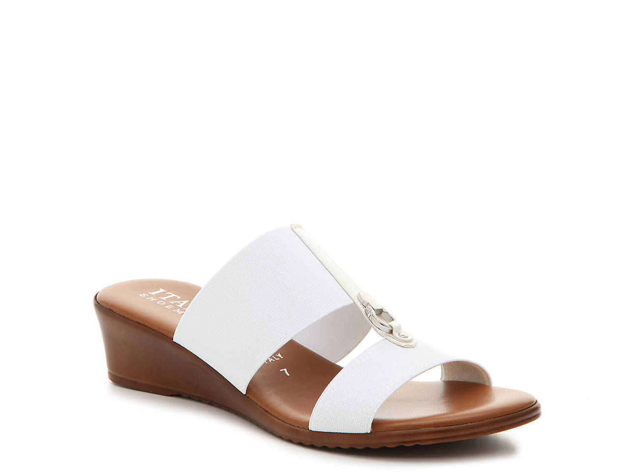 77e54378ba539 Italian Shoemakers Stretch Wedge Sandal Women s Shoes