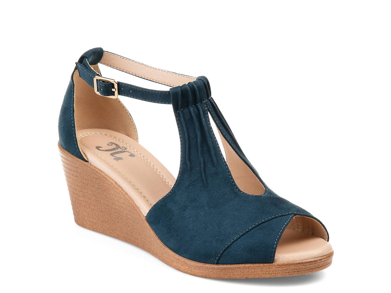 0f4b89eabb Journee Collection Kedzie Wedge Sandal Women's Shoes | DSW