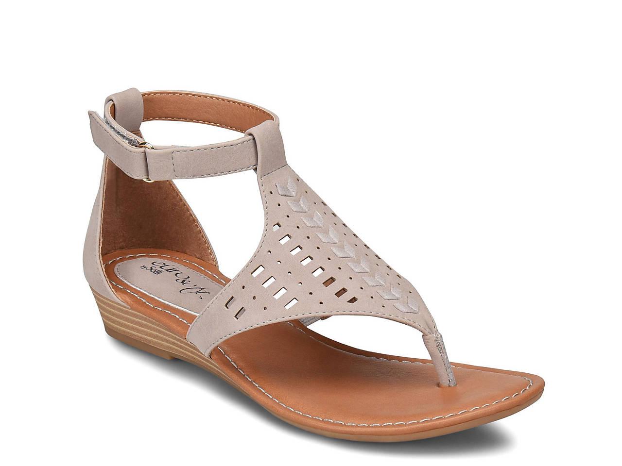 2c300f901c0e Eurosoft Melis Wedge Sandal Women s Shoes