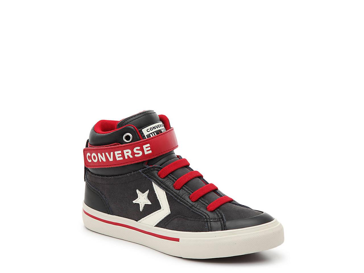 f0056ba9a866 Converse Pro Blaze Strap Hi Toddler   Youth High-Top Sneaker Kids ...