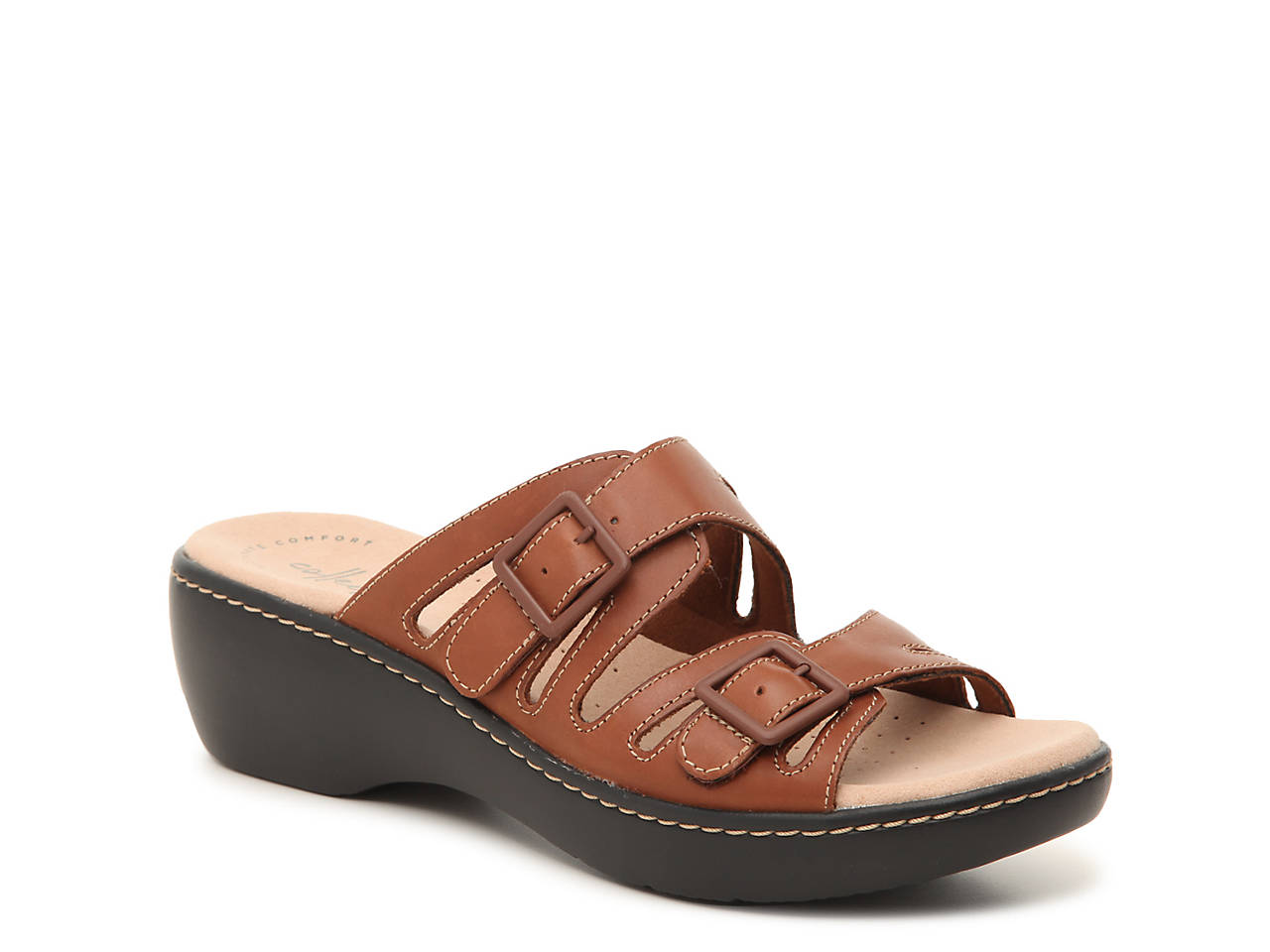 ecd48ef374b Clarks Delana Liri Wedge Sandal Women s Shoes