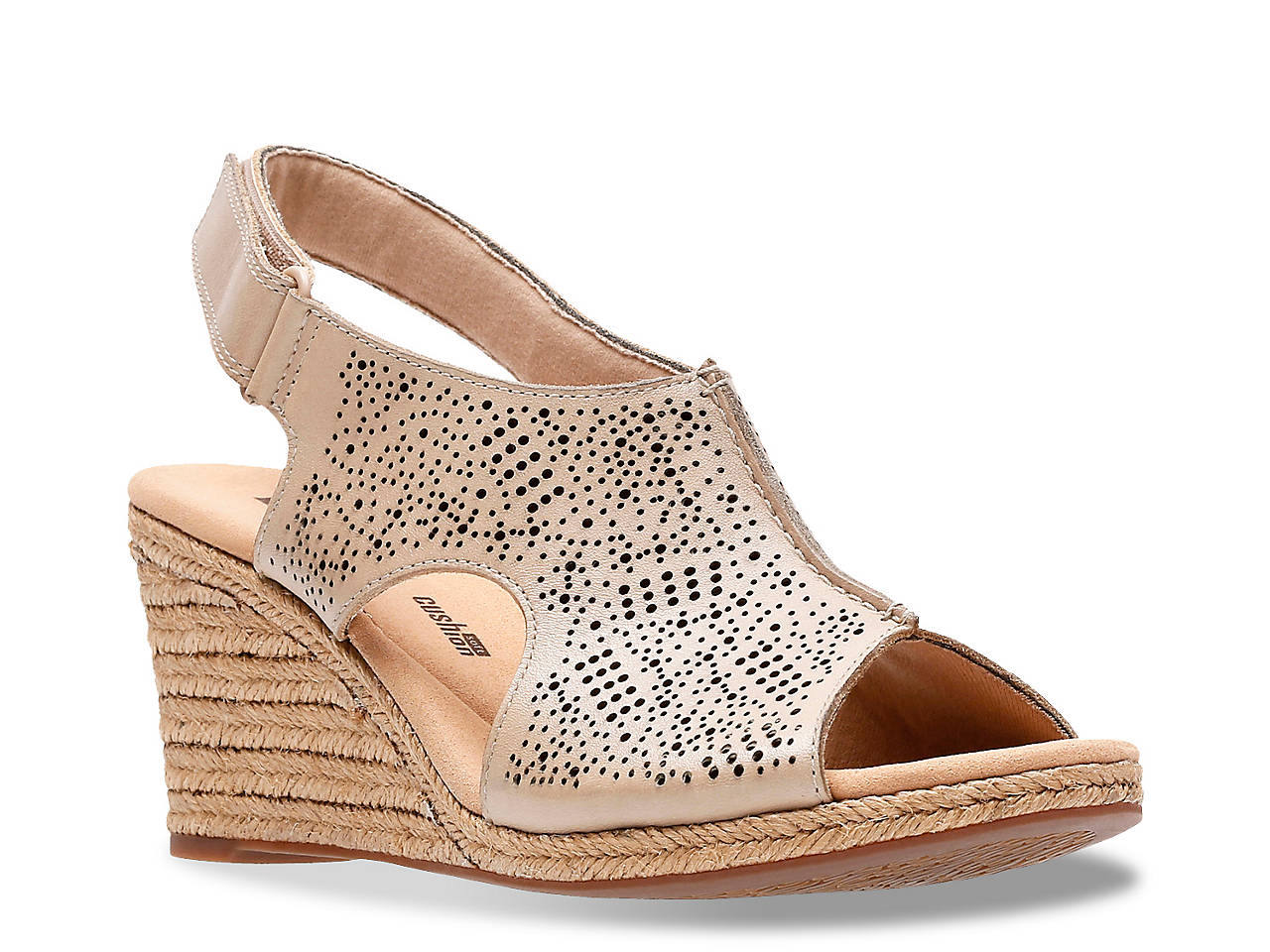 ea05b9960bd Lafley Rosen Espadrille Wedge Sandal