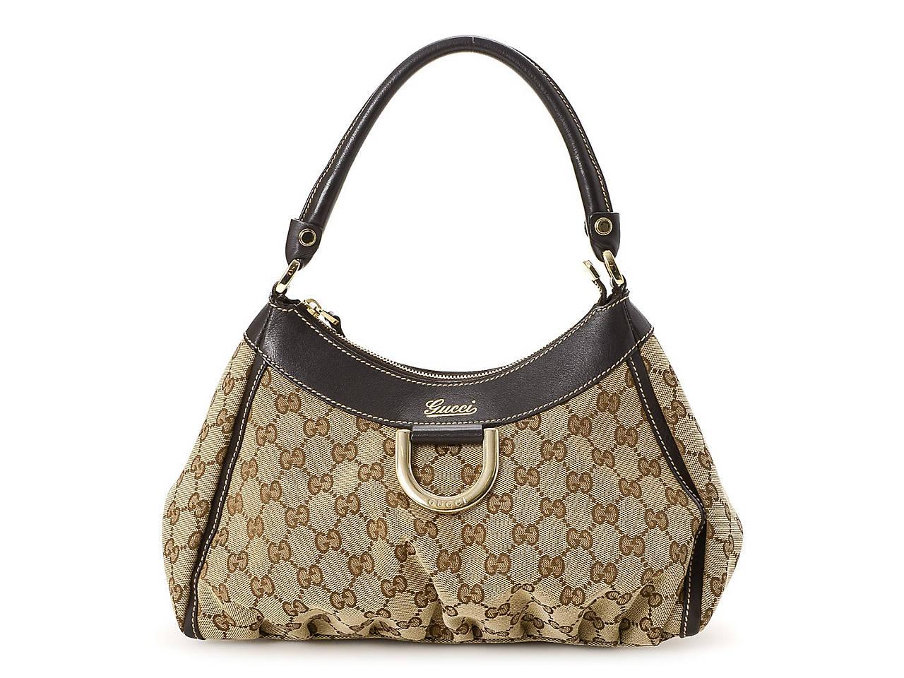 9b2a6452c9c Gucci - Vintage Luxury GG Canvas D-Gold Hobo Bag Women s Handbags ...