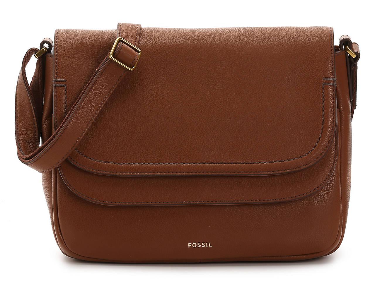 ccdb461f34e Fossil Peyton Leather Crossbody Bag Women's Handbags & Accessories | DSW