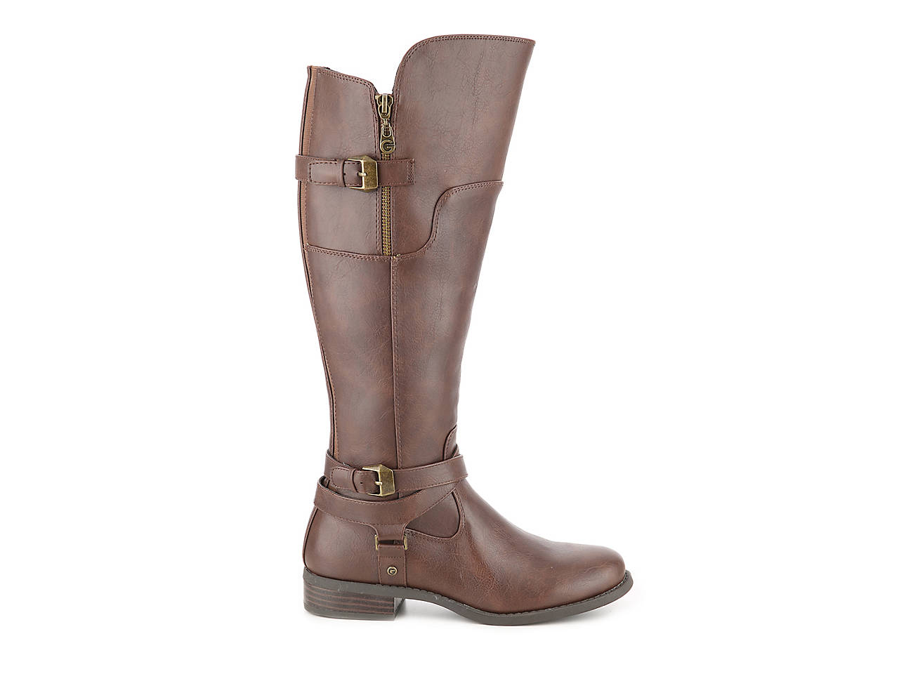 d741c9a6a570 G by GUESS Hilight Wide Calf Riding Boot Women s Shoes