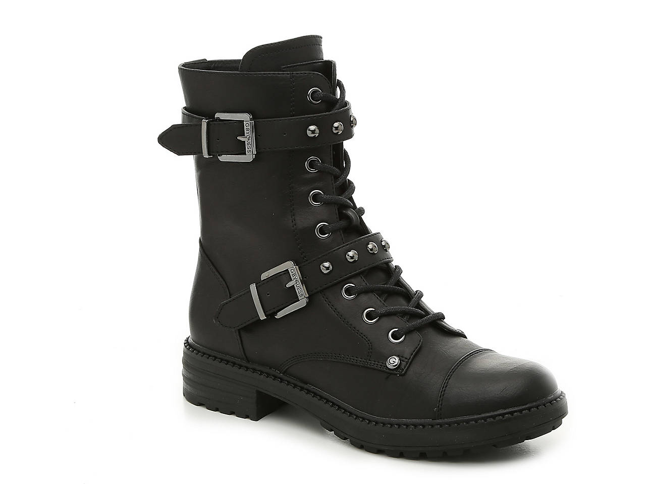 afb61841808073 G by GUESS Granted Combat Boot Women's Shoes | DSW