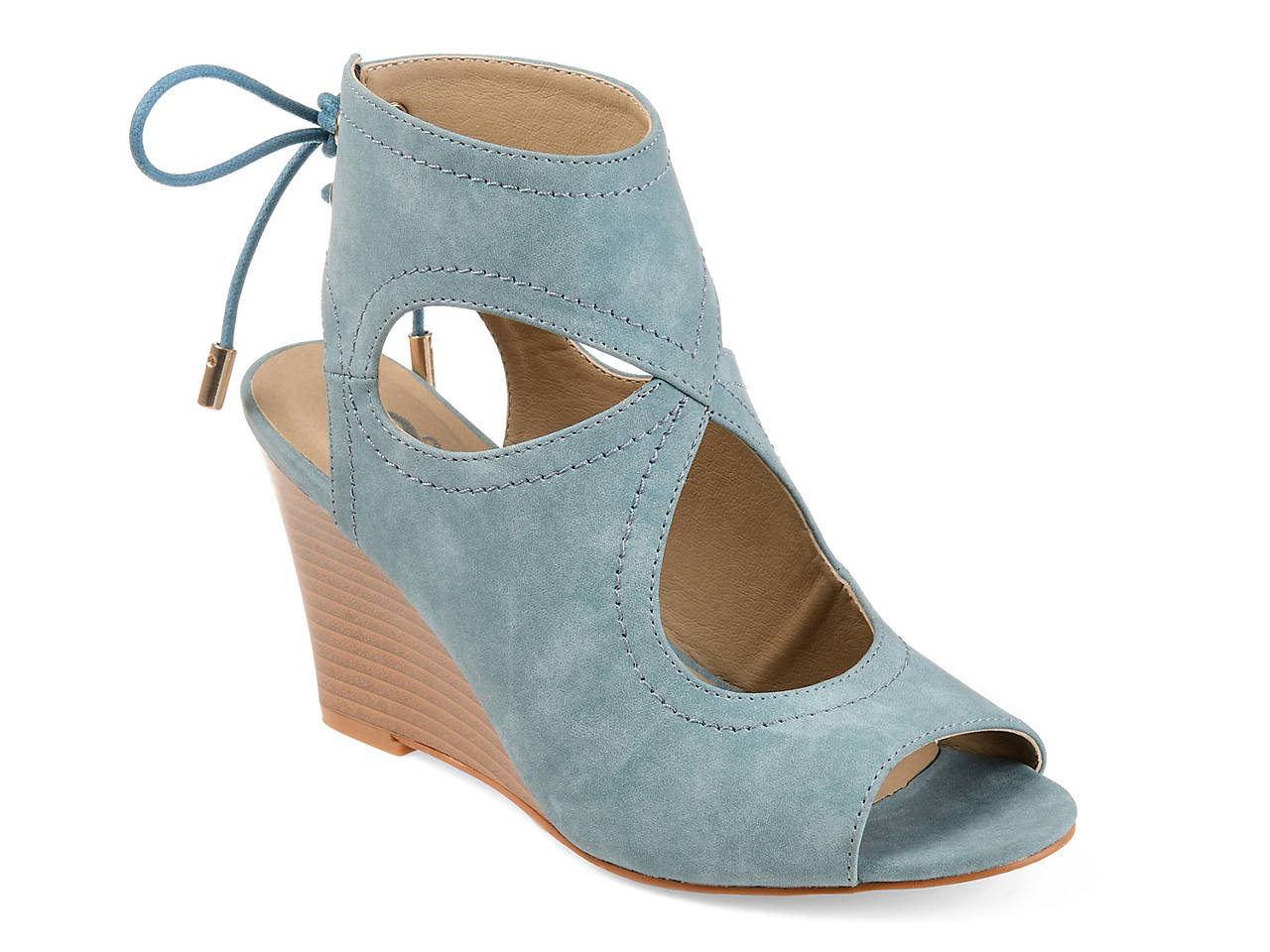 5fc6e2e9fdde Journee Collection Camia Wedge Sandal Women s Shoes