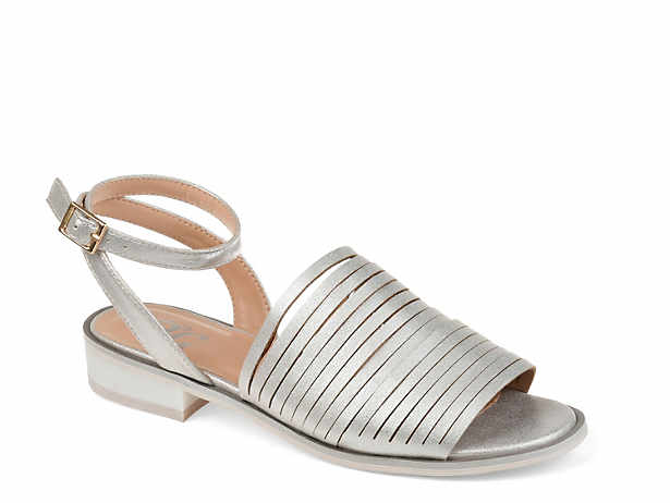 Silver Flat Sandals Dsw