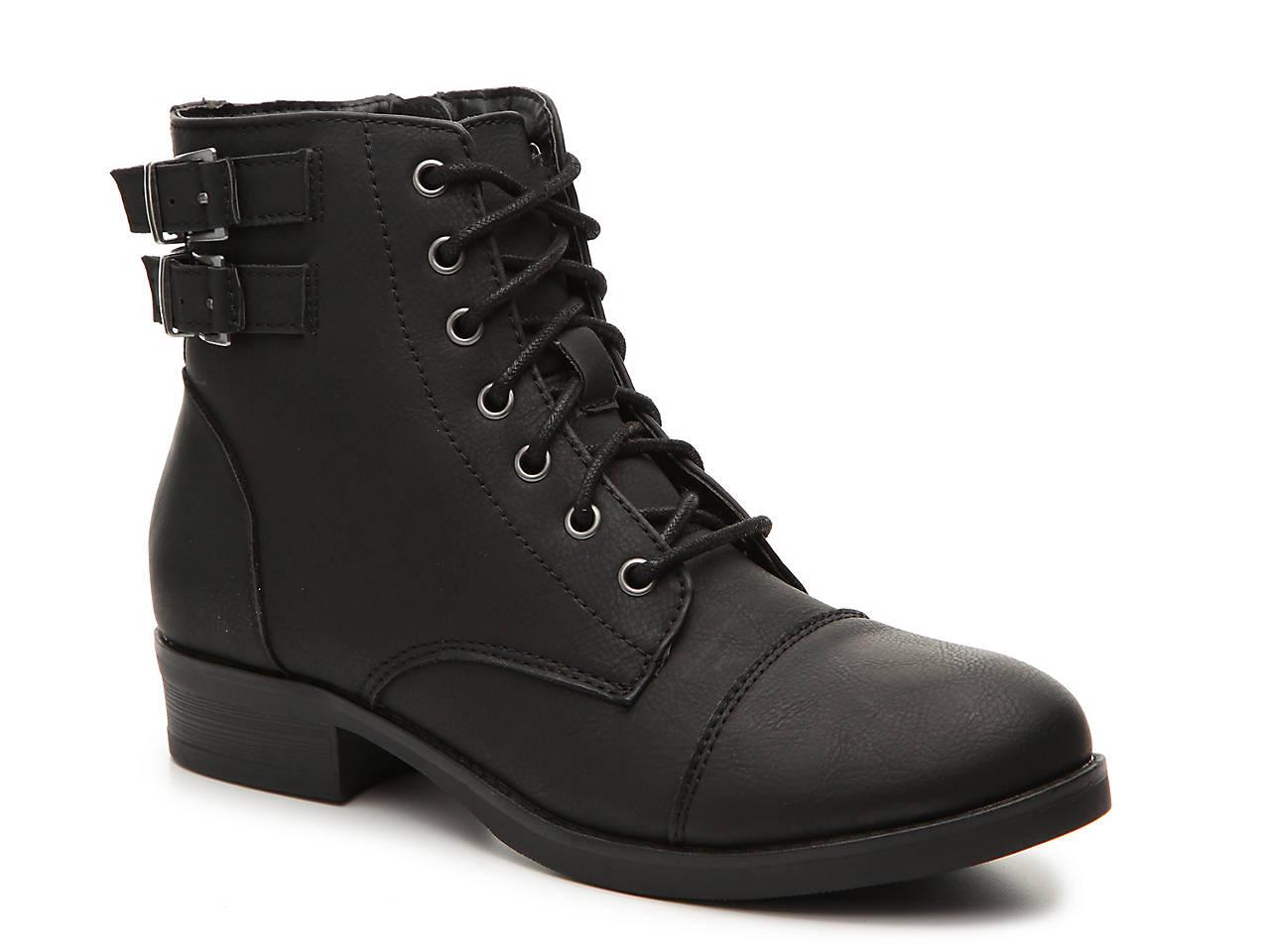 b82269b00 Madden Girl Flint Combat Boot Women's Shoes | DSW