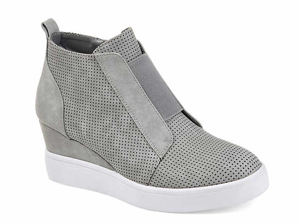 e9866dcdcaf Women s Grey Wedge Sneakers