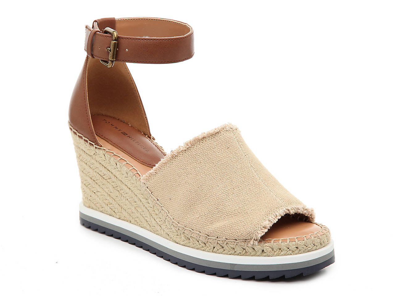 47f0a71be890d1 Tommy Hilfiger Yavino Espadrille Wedge Sandal Women s Shoes