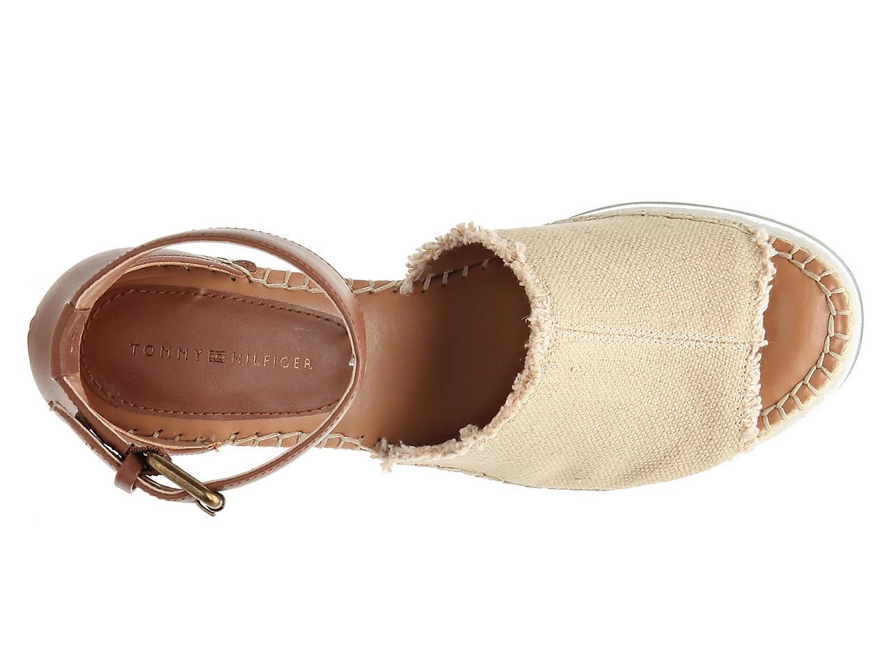 70c8b0032290 Tommy Hilfiger Yavino Espadrille Wedge Sandal Women s Shoes