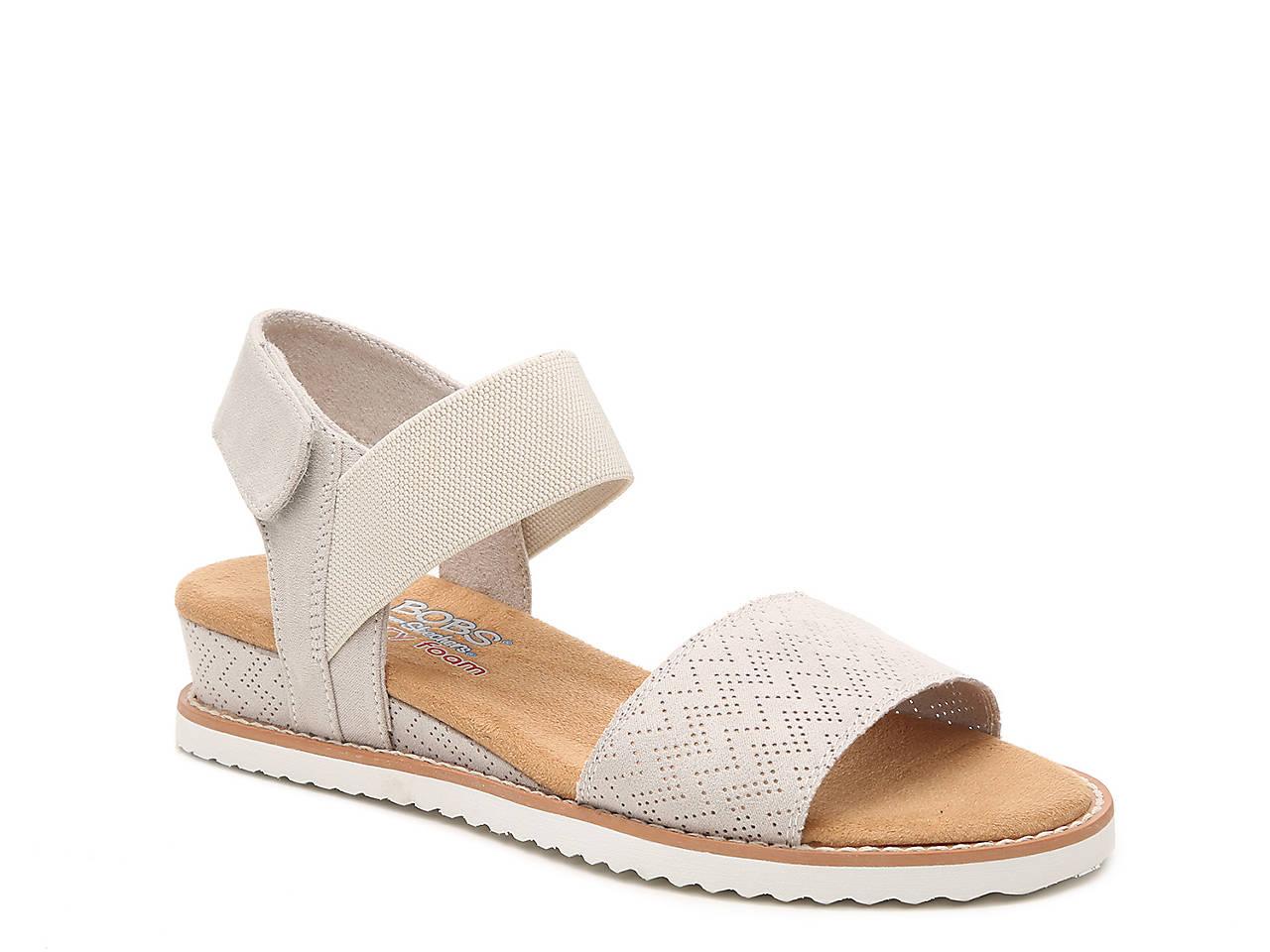 0b54e6fe781e BOBS from Skechers Desert Kiss Wedge Sandal Women s Shoes